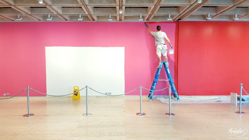Art Gallery installation painting