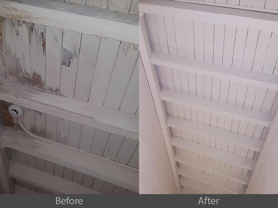 before after commercial ceiling restoration Sydney